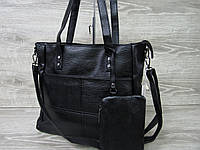Стильная женская сумка из искусственной кожи, с длинными ручками, плечевой ремень, производство Китай