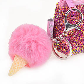 "Пенал-косметичка YES с пайетками ""Ice-Cream"", розовая                                     , фото 2"