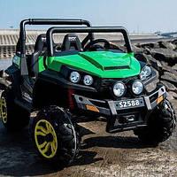 Детский двухместный электромобиль Багги BUGGY зеленый (разные цвета) M 3454 EBLR-5. Полный привод, колеса EVA.