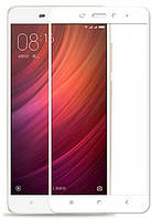 Захисне Скло Full GLUE 2.5 D Xiaomi Redmi Note 4X (Білий)