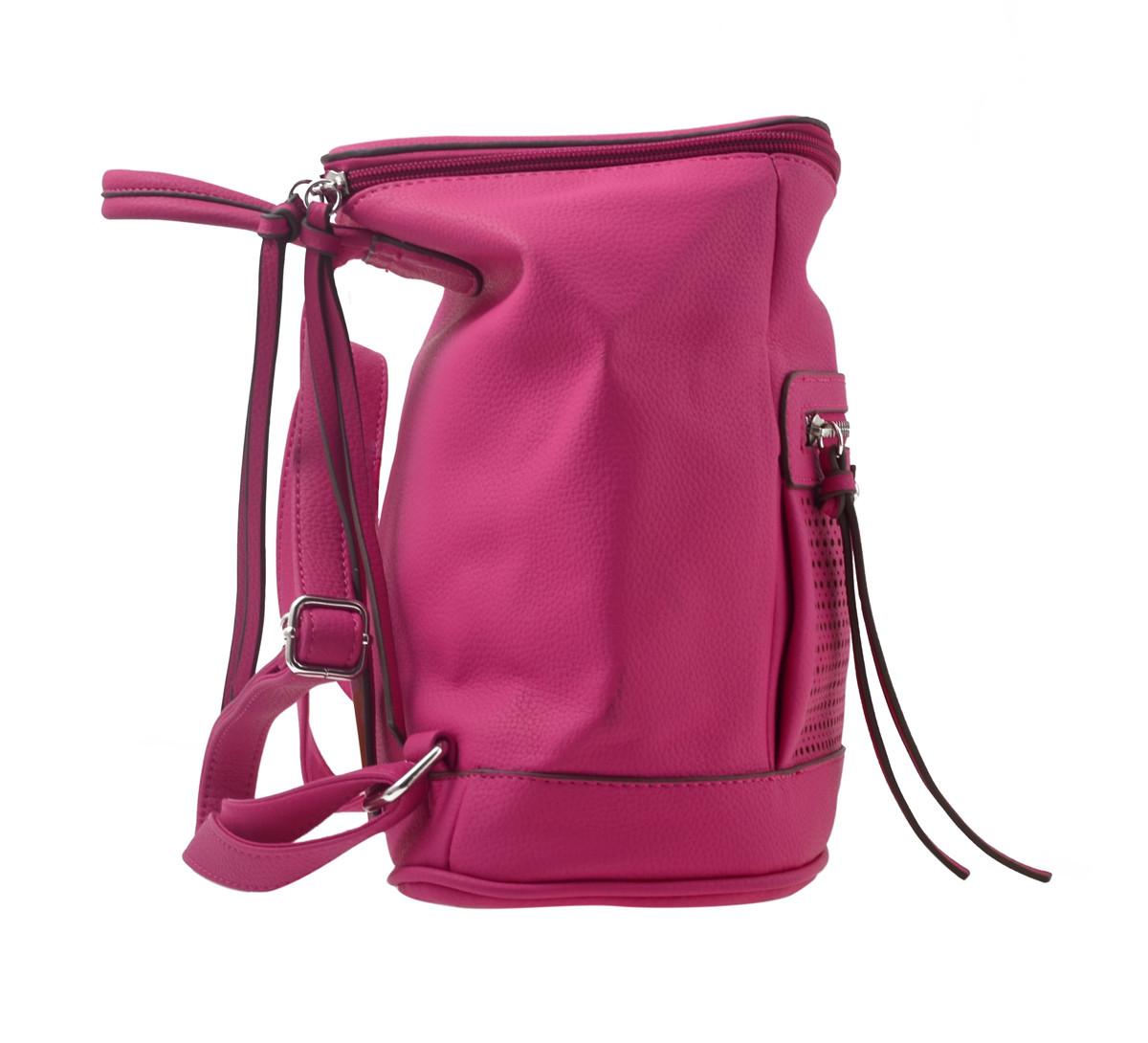 Сумка-рюкзак  YES, рожевий, 26*14*27см
