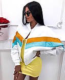Бомбер женский стильный белый желтый голубой красный чёрный, фото 2