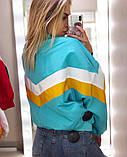 Бомбер женский стильный белый желтый голубой красный чёрный, фото 4