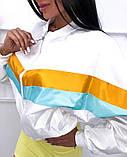 Бомбер женский стильный белый желтый голубой красный чёрный, фото 3