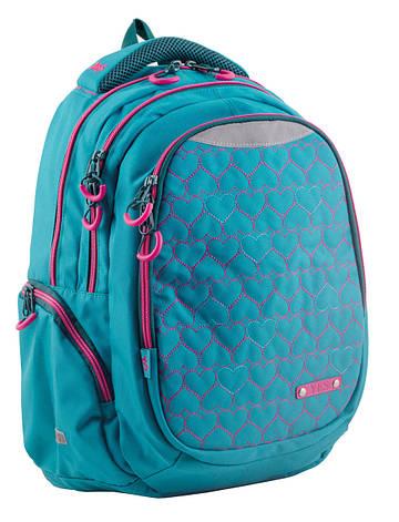 Рюкзак для підлітків YES  Т-22 Mint hearts, 43*30*15                                      , фото 2