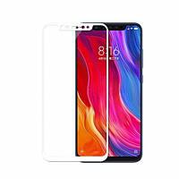 Защитное Стекло Full GLUE 2.5D Xiaomi Mi 8 (Белый)
