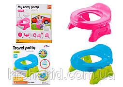 Детский дорожный горшок― сиденье 2 в 1 Travel Potty 8806/8808 - детское сиденье для унитаза