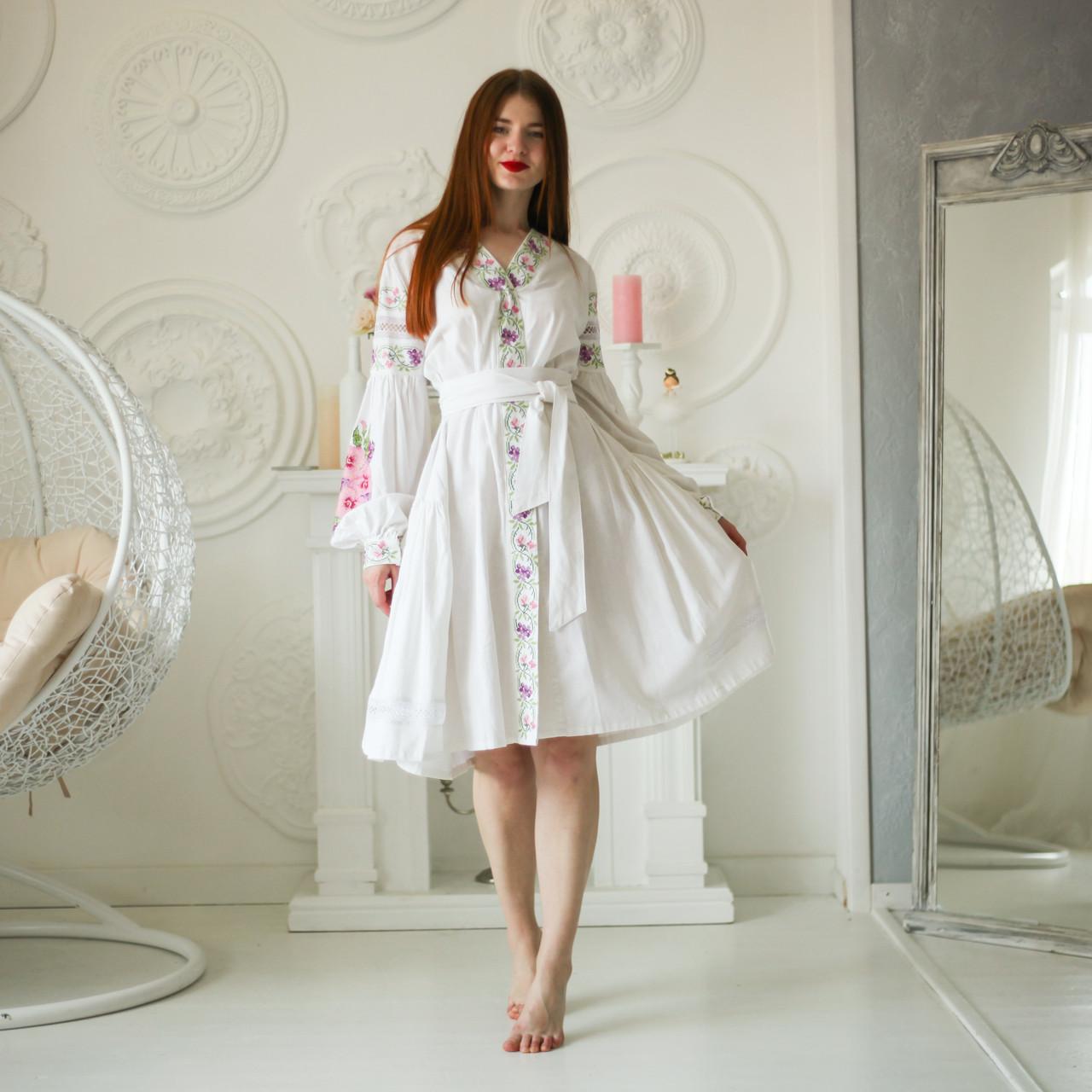 """Женское вышитое платье """"Нетин"""" PJ-0015"""