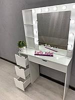 Стол для парикмахера, визажиста с подсветкой