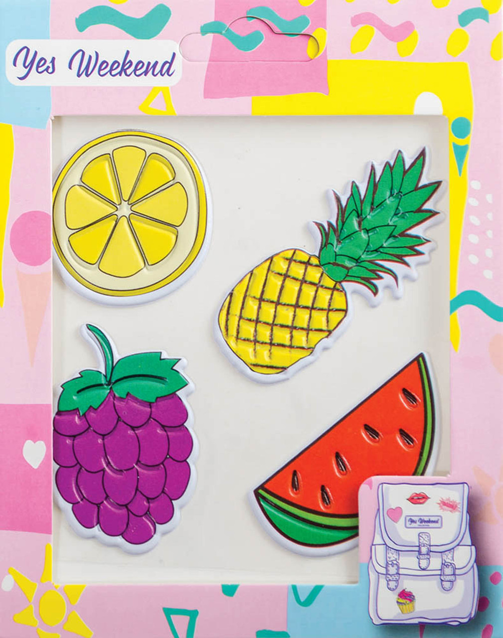 "Набор наклеек YES ""Patch stiker"" ананас, лимон"
