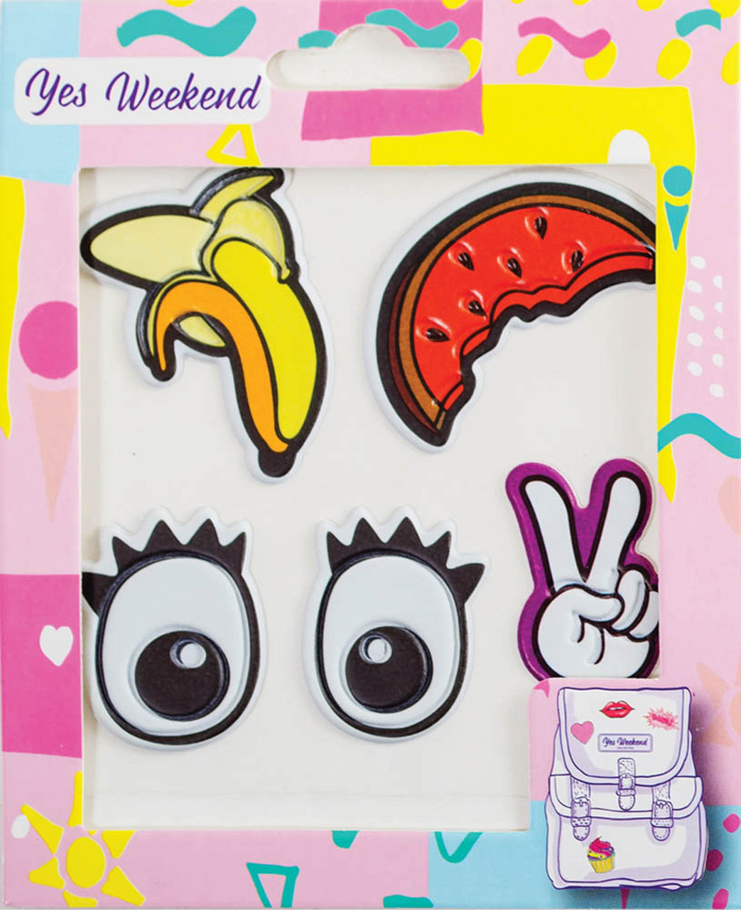"Набор наклеек YES ""Patch stiker"" глаза, банан"