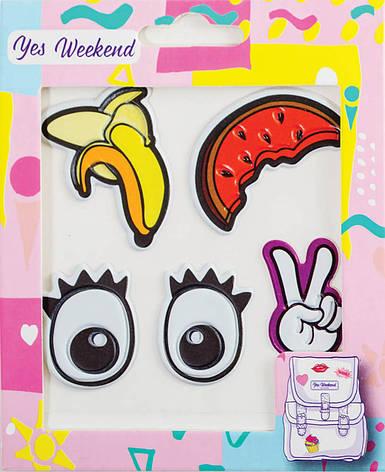 "Набор наклеек YES ""Patch stiker"" глаза, банан                                             , фото 2"