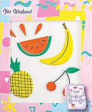 "Набор наклеек YES ""Patch stiker"" банан, вишня"