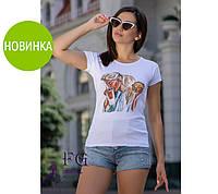 Женская футболка с принтом Burger
