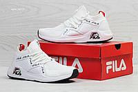 Мужские высокие летние кроссовки Fila,белые
