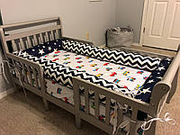 """Бортики на детскую кроватку """"Якорь"""", диаметр 12 см, набор 4 шт"""