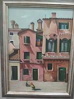 Картина маслом на холсте. Авторская работа. Оригинал. «Кошка нашлась»