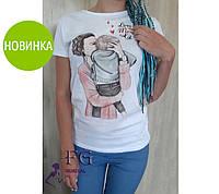 Женская футболка с рисунком One Love