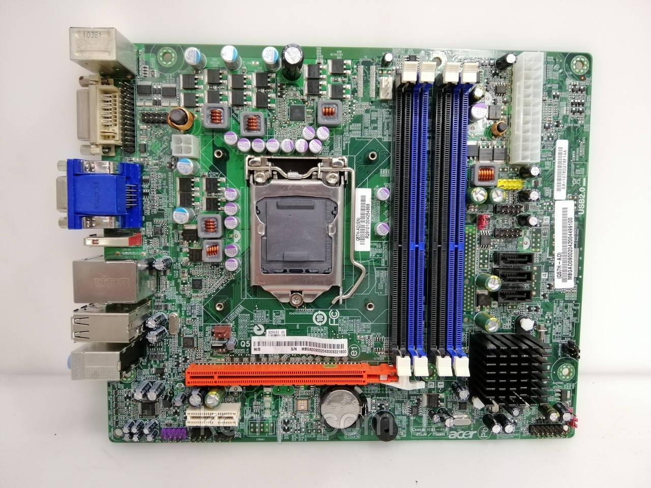 Материнская плата ACER Q57H-AD  S 1156 DDR3