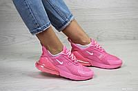 Весенние женские кроссовки Nike Air Max 270,сетка,розовые только 40 и 41 размер