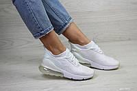 Весенние женские кроссовки Nike Air Max 270,сетка,белые