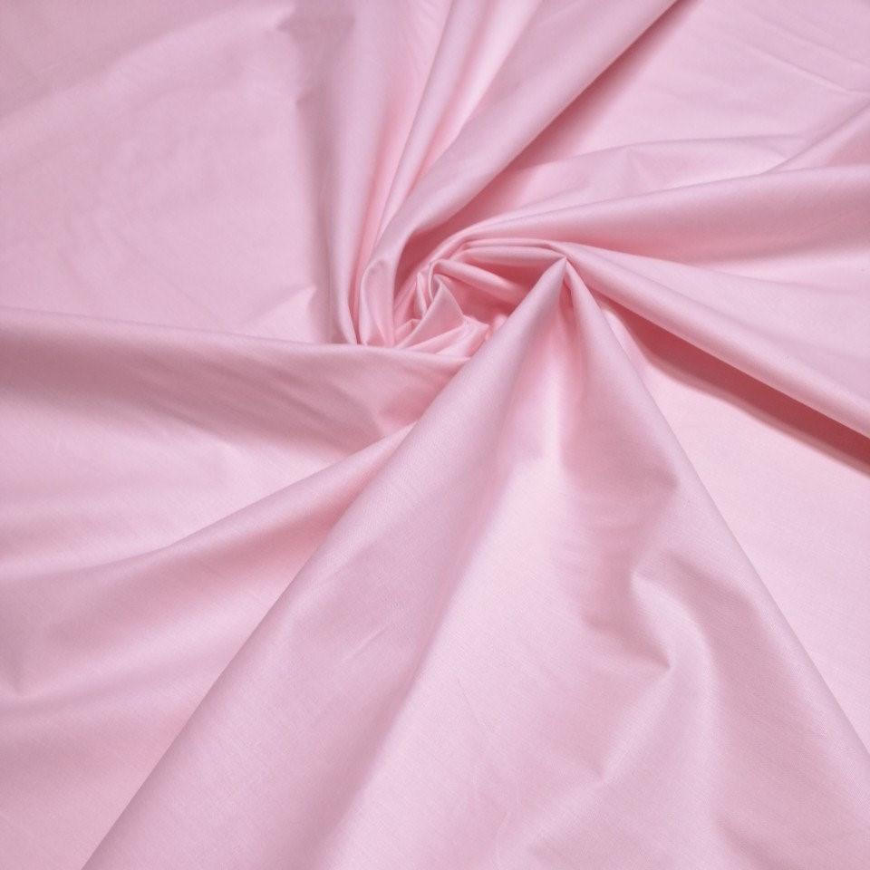 Бязь однотонная светло-розовая 220см.