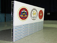 Конструкция с заворотом баннера,фотозона,пресс-вол 3х2м, фото 1