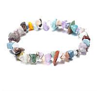 Браслет Натуральные камни мульти/ бижутерия/ цвет разный