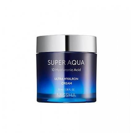 Супер увлажняющий крем с гиалуроновой кислотой MISSHA Super Aqua Ultra Hyalron Balm Cream Original 70ml, фото 2