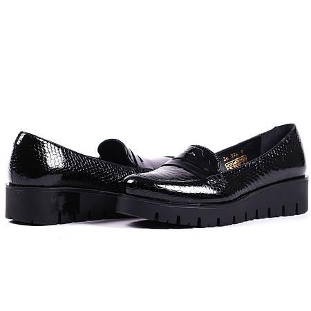 Туфли с фактурной кожы питона