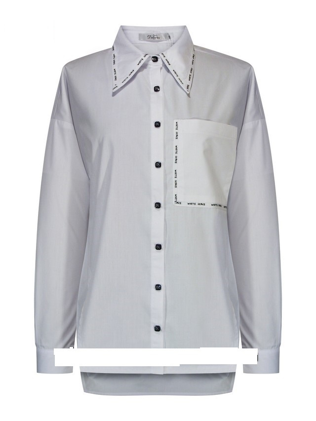 Детская школьная блуза для девочки с длинным рукавом от Deloras 62177   134-158р.