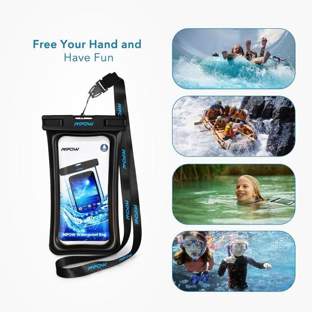 Чехол водонепроницаемый Mpow Floating Waterproof Case для мобильных телефонов или документов Черный