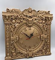 Часы настенные деревянные из дуба 380х380х40 мм бронза от производителя