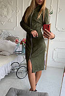 Модное женское платье норма! Цвет: хаки
