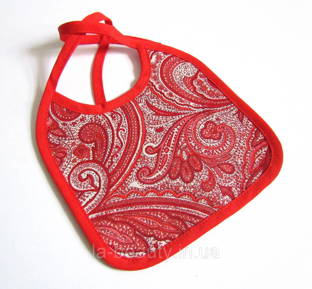 Нагрудник / слюнявчик для собак мелких пород водонепроницаемый Азия красный