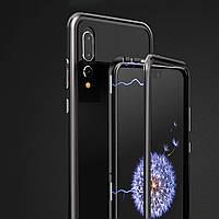 Магнитный бампер накладка для Huawei P Smart Plus Черный