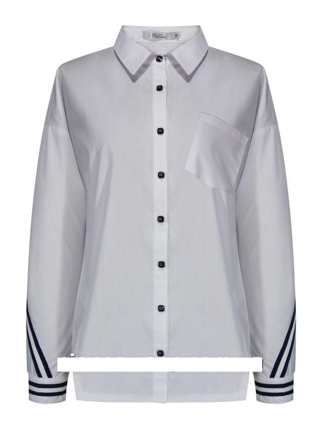 Детская школьная блуза для девочки с длинным рукавом от Deloras 62214 | 134-170р.