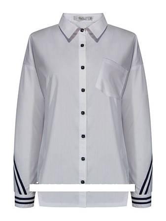 Детская школьная блуза для девочки с длинным рукавом от Deloras 62214 | 134-170р., фото 2