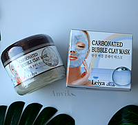 Пенно - глиняная маска для лица Leiya, 100g Carbonated Bubble Clay Mask