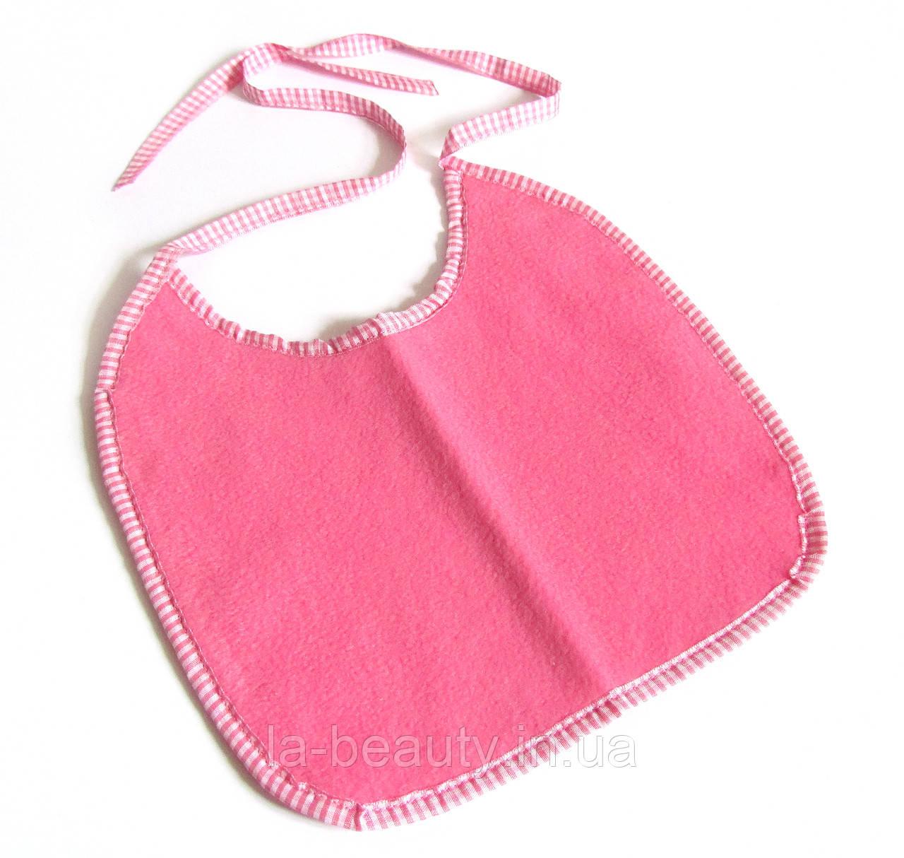 Нагрудник / слюнявчик для собак средний водонепроницаемый розовый