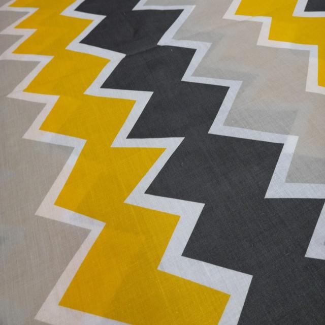 ткань бязь голд цветной зигзаг для постельного белья и домашнего текстиля