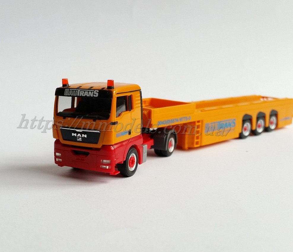 "Herpa 156240 MAN с полуприцепом  MAN TGX XL CEMENT-PART TRANSPORTER LANGENDORF ""BAUTRANS"" / 1:87"