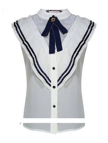 Детская школьная блуза для девочки с коротким рукавом от BEAR RICHI 561769   140-168р., фото 2