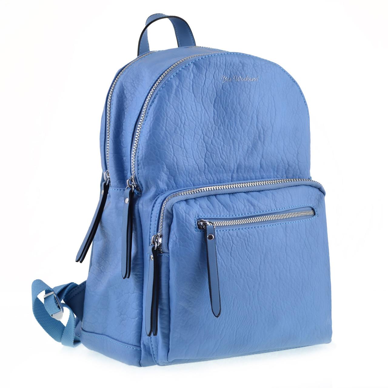 Рюкзак женский YES YW-42 «Adagio» голубой