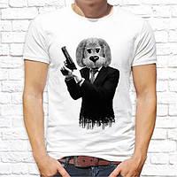 """Мужская футболка с принтом, Swag """"Собака с пистолетом"""" Push IT"""
