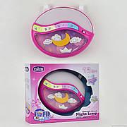 Детский музыкальный ночник / проектор 999-108 G звук,свет - розовый