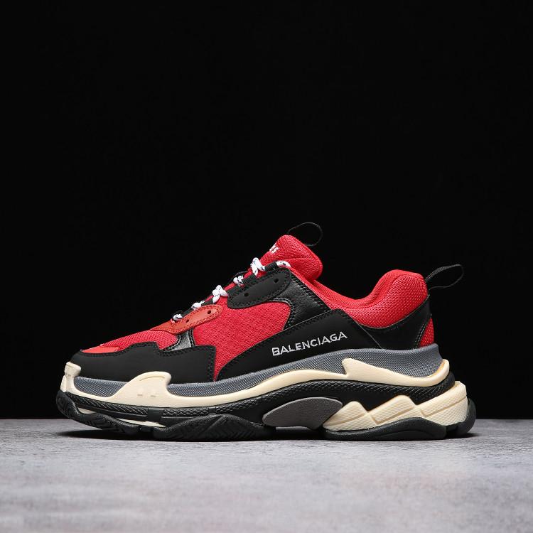 Кроссовки Balenciaga Triple S Red Black красные