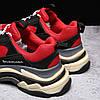 Кроссовки Balenciaga Triple S Red Black красные, фото 5
