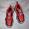 Кроссовки Balenciaga Triple S Red Black красные, фото 8