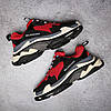 Кроссовки Balenciaga Triple S Red Black красные, фото 6